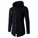 New Design Long Sleeve Button Down Plain Sports Drawstring Hoodie