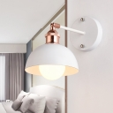 Industrial Wall Sconce with 6.3''W Dome Metal Shade in Nordical Style