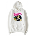 Fashion Cartoon Print Long Sleeve Comfort Hoodie