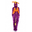 Halloween Color Block Dragon Shaped Pajama Jumpsuit with Horns Wings & Tail