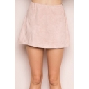 Hot Popular Simple Plain A-Line Mini Skirt