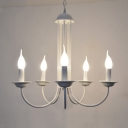 Industrial Vintage 5 Light Chandelier 18''W in Palace Style, White