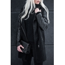 Hot Fashion Stand-Up Collar Long Sleeve Zipper Tunic Coat