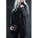 Hot Fashion Stand-Up Collar Long Sleeve Zipper Tunic Coat