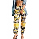 Leisure Camouflaged Pattern Drawstring Elastic Waist Loose Sports Joggers