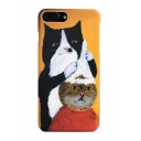 Lovely Cat Barber Pattern iPhone Mobile Phone Case