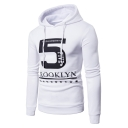 Stylish Letter Number Star Print Long Sleeve Casual Hoodie