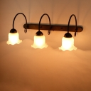 Industrial 23.6''W Multi Light Wall Sconce with 3 Light and Glass Shade