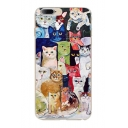 Fancy Cat Cartoon Pattern Soft iPhone Mobile Phone Case