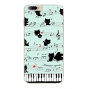 Cute Cat Piano Music Note Letter Pattern iPhone Mobile Phone Case