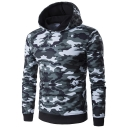 New Stylish Camouflage Print Long Sleeve Leisure Hoodie