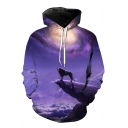 Top Sale 3D Lion Galaxy Printed Long Sleeves Pullover Unisex Leisure Hoodie