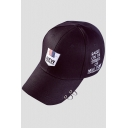 Cool Letter Badge Pattern Hoop Detail Sport Baseball Cap Hat