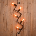 Industrial Vintage Multi Light Wall Sconce with 5 Light in Bar Style, 17.3''W
