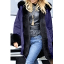 Women Winter Warm Thick Faux Fur Coat Outdoor Hood Parka Long Jacket