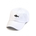 New Collection Fish Letter Print Baseball Cap for Couple