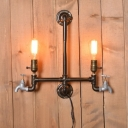 Industrial Vintage 20''W Multi Light Wall Sconce with 2 Light in Pipe Style