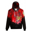 Fashion Forest Galaxy Print Long Sleeve Zipper Loose Hoodie