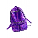 Cool Specular Zippered Trendy Backpack School Bag