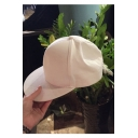 Casual Sweetheart Bow Tie Embellished White Cute Girlish Baseball Cap Hat
