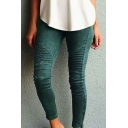 Stylish Slim-Fit Slim Leg Elastic Waist Women's Skinny Pants