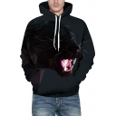 Chic Cartoon Animal Print Long Sleeve Pocket Hoodie for Couple