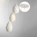 Industrial 3 Light Multi Light Pendant with Metal Shade in White