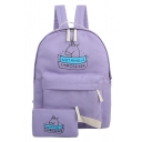 Cute Cartoon Unicorn Letter Pattern Girlish Zippered Backpack School Bag