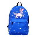 Hot Sale Cartoon Unicorn Star Print Backpack /School Bag