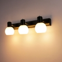 Industrial 18.5''W Multi Light Wall Sconce with 3 Light and Globe Glass Shade