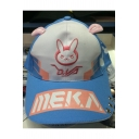 Chic Rabbit Color Block Letter Pattern Ears Embellished Baseball Cap Hat