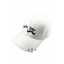 Chic Embroidered Mustache Letter Pattern Casual Cap for Couple