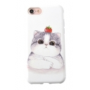 Lovely Cat Cartoon Printed iPhone Mobile Phone Case