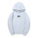 Leisure Couple Character Printed Long Sleeves Pullover Hoodie with Pocket