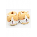 Adorable Dog Cartoon Ears Color Block Paw Pattern Slippers Shoes