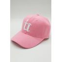 Chic Embroidery Letter Pattern Outdoor Baseball Cap for Couple
