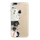 Lovely Cat Cartoon Pattern Soft iPhone Mobile Phone Case