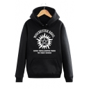 Fancy Sun Tribal Star Letter Printed Long Sleeves Pullover Hoodie with Pocket