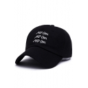 Hot Sale Embroidery Letter Pattern Outdoor Cap for Couple