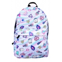 New Collection Cartoon Star Lipstick Print Backpack/School Bag