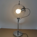 Industrial 9.8''W Desk Lamp with Globe Glass Shade in Nordical Style