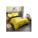 Chic Lovely Cartoon Printed Bedding Sets Bed Sheet Set Duvet Cover Set Bed Pillowcase