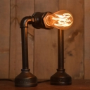 Industrial Vintage 7''W Desk Lamp with Pipe Fixture Arm in Bar Style