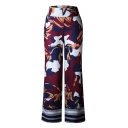 Chic Camouflage Printed High Waist Wide Leg Loose Pants