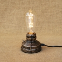 Industrai Simple Mini Desk Lamp in Open Bulb Style, Brass/Bronze/Silver