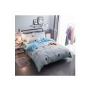 Cartoon Cat Printed Bedding Sets Bed Sheet Set Duvet Color Set Bed Pillowcase