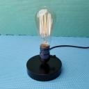 Industrial 4.7''W Mini Desk Lamp in Open Bulb Style, Black
