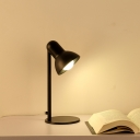 Industrial Desk Lamp with Bowl Metal Shade in Nordical Style, Black/White/Gold