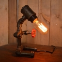 Industrial Vintage 7''W Table Lamp with Valve in Bar Style