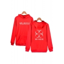 Stylish Symbol Letter Pattern Long Sleeves Pullover Hoodie with Pocket